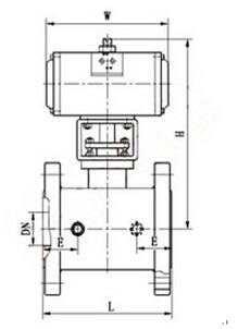 BQ641F氣動保溫球閥結構圖