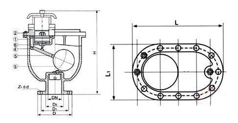 carx复合式清水排气阀结构图