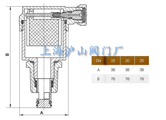 zp88黄铜自动排气阀结构图