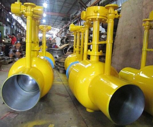 直埋全焊接球阀采用特殊的结构设计