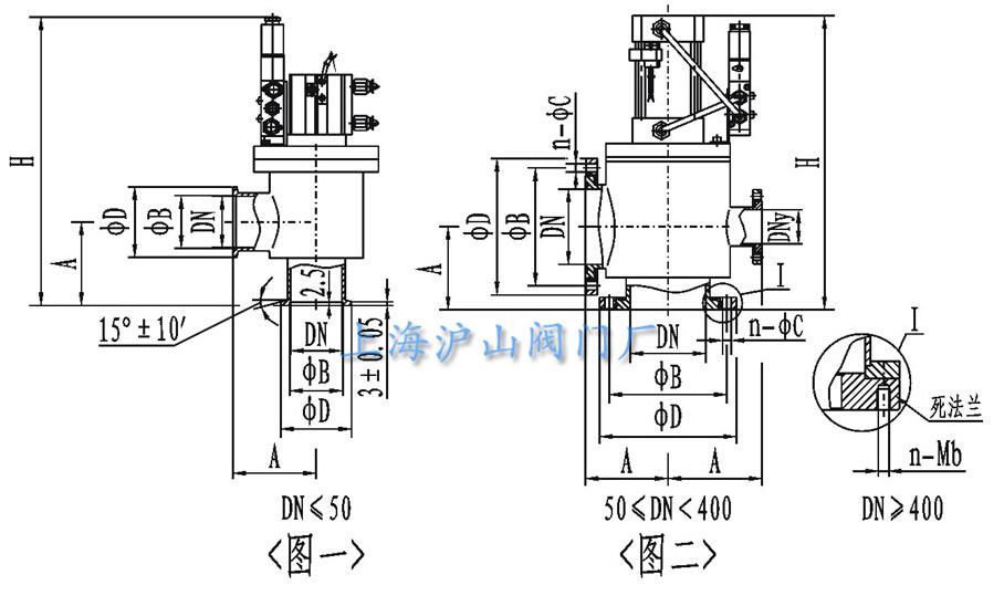 gdq型气动高真空挡板阀结构图