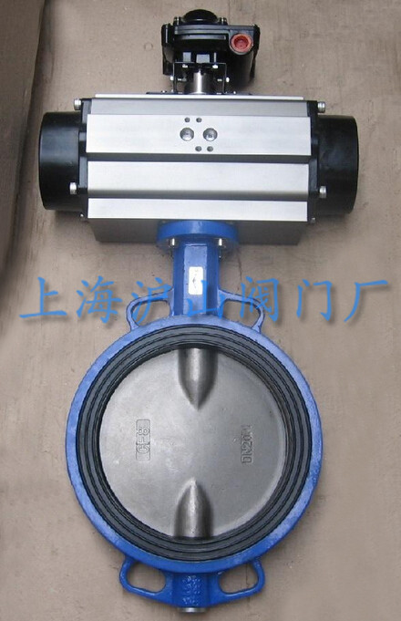 D671X气动对夹式软密封蝶阀实拍