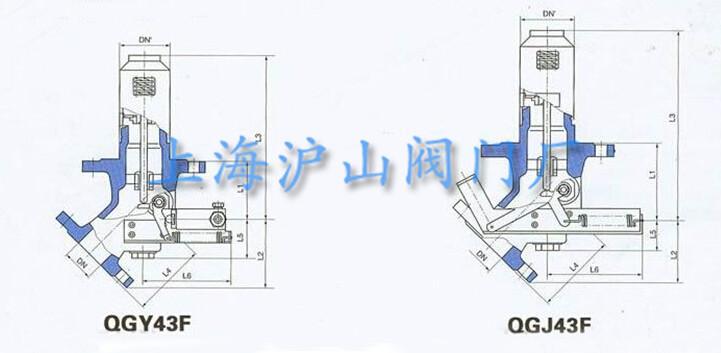 QGJ43F-25机械式车用紧急切断阀外形结构图