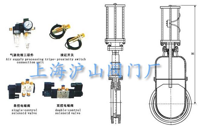 气动暗杆式刀型闸阀结构图