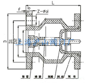 hc41x型消声止回阀结构图