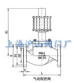 气动程控截止阀结构图