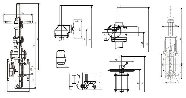 Z43WF无导流孔平板闸阀结构图