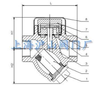 cs19h热动力圆盘式蒸汽疏水阀结构图图片