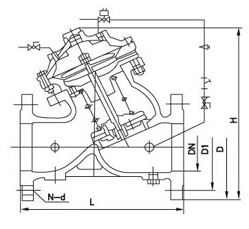J145X电动遥控阀结构图