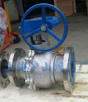 Q341F不锈钢涡轮球阀2