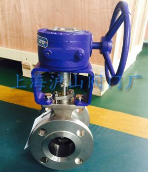 一,涡轮 v型球阀 概述:    vq347f涡轮v型球阀阀芯设计成带有特殊