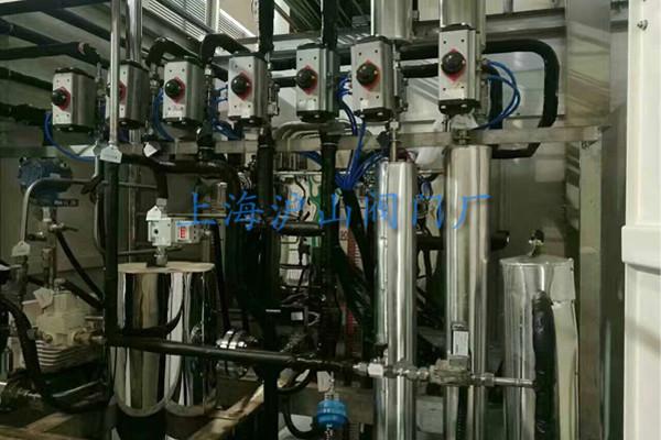 上海沪山阀门厂气动球阀安装实例9