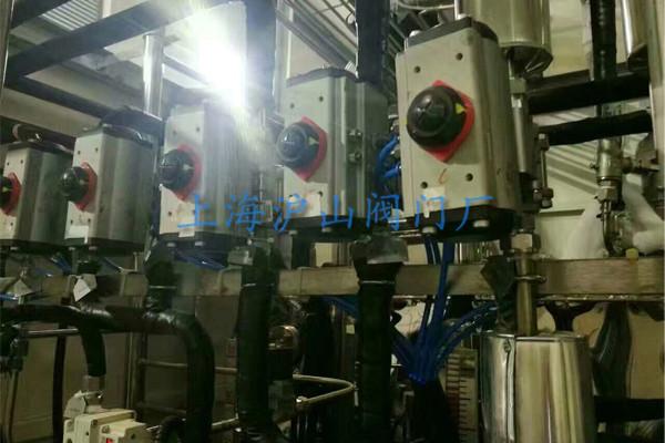 上海沪山阀门厂气动球阀安装实例2