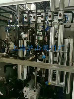 上海沪山阀门厂气动球阀安装实例8